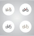 realistic brand competition bicycle adolescent vector image vector image