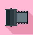 retro camera film icon flat style vector image vector image