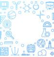 school concept blue outline frame vector image vector image