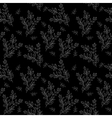 Seamless background branches silhouettes vector image