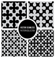 Seamless BW Pattern Cross Collection vector image vector image