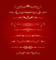 set of decorative delimiters vector image vector image