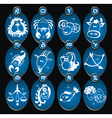 Set of zodiac signs vector image vector image