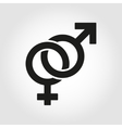sex symbol icon set vector image vector image