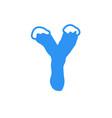 snow letter logo y vector image