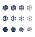 snowflakes signs set black snowflake icons vector image vector image