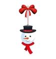 snowman christmas decoration vector image vector image
