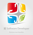 Software developer business icon vector image vector image