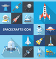 spacecrafts icon set vector image vector image