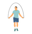 sportsman skipping with jump rope isolated vector image vector image