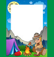 summer frame with scout theme 3 vector image