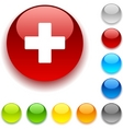 Switzerland button vector