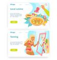 travel concept woman with sunburn local vector image vector image