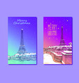 trendy cover template eiffel tower paris france vector image vector image