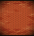 wall of red brick vector image