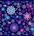 winter seamless christmas dark blue pattern vector image vector image