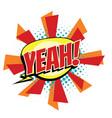 yeah comic word vector image vector image