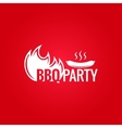 barbecue fire design background vector image