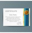 certificate template design business award vector image