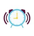 Clock with alarm sound vector image