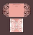 elegant golden wedding card vector image