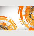 abstract orange colored technological background vector image vector image
