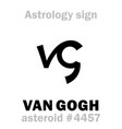 astrology asteroid van gogh vector image vector image