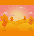autumn background sunset vector image vector image
