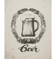 Beer Sketch oktoberfest festival Hand-drawn vector image