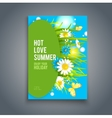 Bright summer flowers vector image vector image