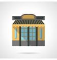 Cafeteria facade flat color design icon vector image vector image