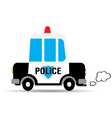 Cartoon car police vector image vector image