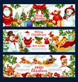 christmas holidays wish greeting banners vector image vector image
