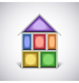 Colorful empty house rooms in cut vector image vector image