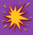 comic bubble sharp star vector image vector image
