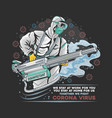 corona virus disinfectant protection doctor vector image