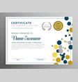 creative circles certificate template design vector image vector image