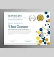creative circles certificate template design vector image vector image