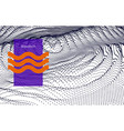digital surface noised ripple in cyber vector image vector image
