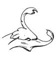 dolphin head is a natural design vintage engraving vector image vector image