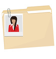 File folder with photo vector image