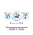 financial advisor fees concept icon