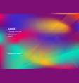 fluid shapes wavy liquid background bright vector image vector image