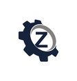gear logo letter z vector image vector image
