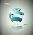 Glossy 3D sphere icon vector image vector image