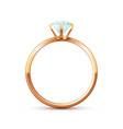 gold wedding ring vector image