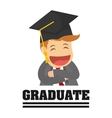 Graduation cap and cartoon icon University vector image vector image