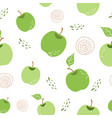 green apple pattern seamless repeating background vector image