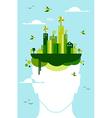 Green city people idea vector image vector image
