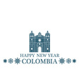 Happy New Year Colombia vector image vector image